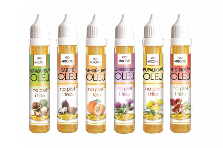 Tělové  a pleťové oleje