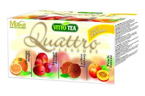 Quattro selection – Porcované čaje ovocné VITTO TEA