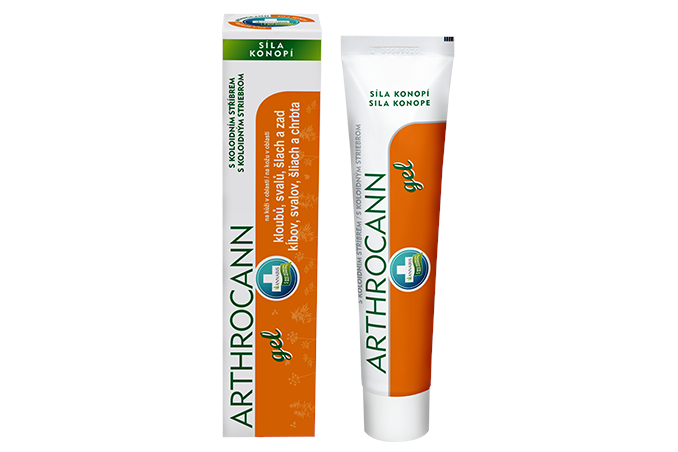 Arthrocann – konopný gel s koloidním stříbrem